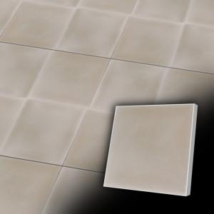 Zementfliesen antik, historischer Baustoff | Einfarbig | Fliese antik | Design V20-U2025 | Ventano