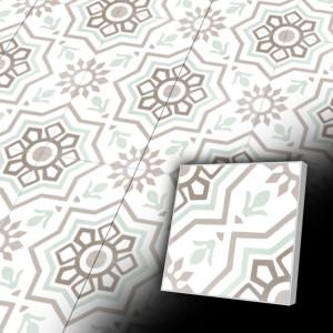 Zementfliesen antik, historischer Baustoff | Retro-Fliesen | Maurisch | Muster V20-015-D | Ventano