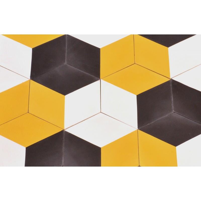 Zementfliesen mediterrane fliesen vintage hexagon design v15h 001 a ventano - Fliesen hexagon ...