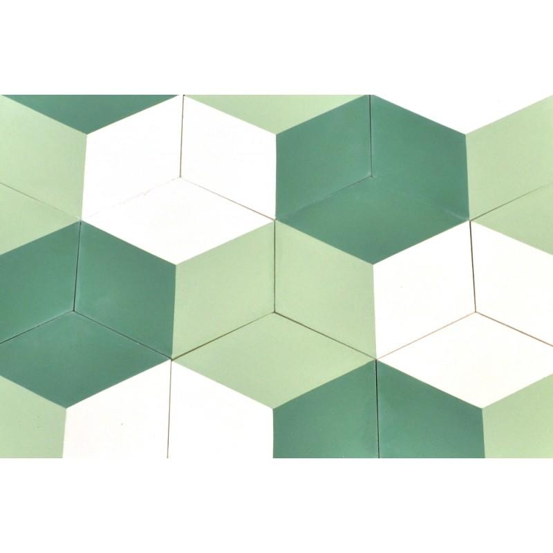 Zementfliesen mediterrane fliesen vintage hexagon design v15h 001 b ventano - Fliesen hexagon ...