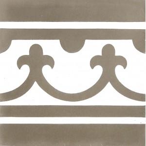 Zementfliesen antik, historischer Baustoff | Retro-Fliesen | Historisch | Muster V20B-002-B-a | Ventano