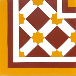 Zementfliesen antik, historischer Baustoff | Design-Fliesen | Orientalisch | Muster V20C-007-a | Ventano