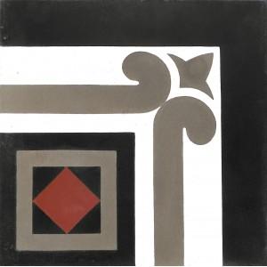 Zementfliesen antik, historischer Baustoff | Design-Fliesen | Vintage | Muster V20C-010-a | Ventano