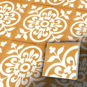 Zementfliesen antik, historischer Baustoff   Retro-Fliesen   Dekor   Muster A0014b   Ventano