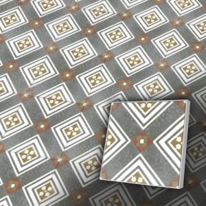 Zementfliesen antik, historischer Baustoff | Retro-Fliesen | Design V20R-14-A | Ventano