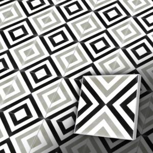 Zementfliesen antik, historischer Baustoff | Retro-Fliesen | Design V20-025-1a | Ventano