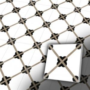 Zementfliesen antik, historischer Baustoff | Retrofliesen | Fliesen antik | Muster V20-060-a | Ventano