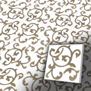 Zementfliesen antik, historischer Baustoff | Retro-Fliesen | Antik | Design V20-071-a | Ventano