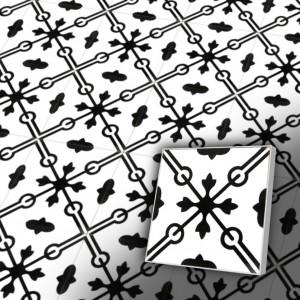 Zementfliesen antik, historischer Baustoff | Retro-Fliesen | Antik | Design V20-093-a | Ventano