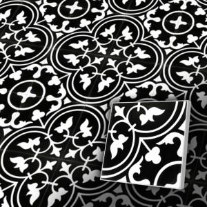 Zementfliesen antik, historischer Baustoff | Retro-Fliesen | Antik | Design V20-098-a | Ventano