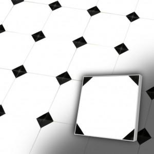 Zementfliesen antik, historischer Baustoff | Retro-Fliesen | Antik | Muster V20-157-A-a | Ventano