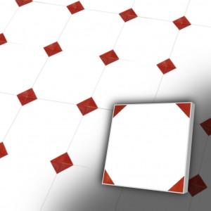 Zementfliesen antik, historischer Baustoff | Retro-Fliesen | Oktagon | Design V20-157-D-a | Ventano