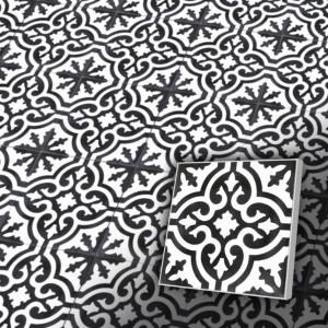 Zementfliesen antik, historischer Baustoff | Retro-Fliesen | Maurisch | Design V20-200-a | Ventano