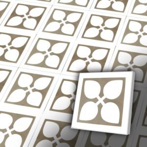 Zementfliesen antik, historischer Baustoff | Retro-Fliesen | Jugendstil | Muster V20-259-a | Ventano