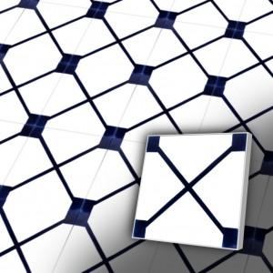 Zementfliesen antik, historischer Baustoff | Design-Fliesen | Dekor | Muster S001-a | Ventano