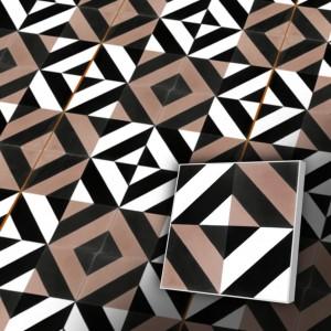 Zementfliesen antik, historischer Baustoff | Design-Fliesen | Dekor | Muster S003-a | Ventano