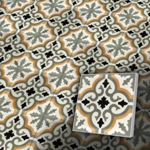 Zementfliesen antik, historischer Baustoff   Retro-Fliesen   Orientalisch   Design S008-a   Ventano