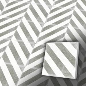 Zementfliesen antik, historischer Baustoff   Design-Fliesen   Dekor   Muster S011-2-a   Ventano
