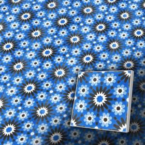 Zementfliesen antik, historischer Baustoff | Retro-Fliesen | Dekor | Muster S012-a | Ventano