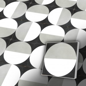 Zementfliesen antik, historischer Baustoff   Design-Fliesen   Dekor   Muster S013-a   Ventano