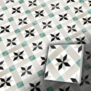 Zementfliesen antik, historischer Baustoff | Retro-Fliesen | Orientalisch | Muster S019-a | Ventano