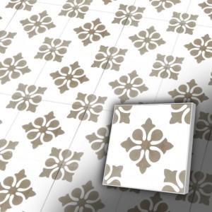 Zementfliesen antik, historischer Baustoff | Retro-Fliesen | Vintage | Muster S021-a | Ventano