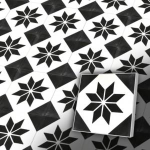 Zementfliesen antik, historischer Baustoff | Retro-Fliesen | Vintage | Muster V20-002-1-a | Ventano