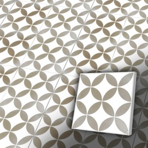 Zementfliesen antik, historischer Baustoff | Retro-Fliesen | Jugendstil | Design Z20-061-B | Ventano