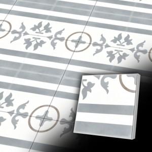 Zementfliesen antik, historischer Baustoff | Retro-Fliesen | Historisch | Design V20B2-033-L  | Ventano