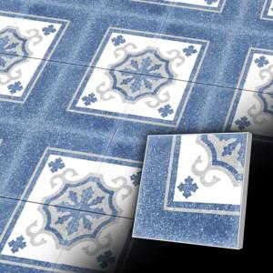 Zementfliesen antik, historischer Baustoff | Retro-Fliesen | Historisch | Design V20C-040-T1 | Ventano