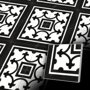Zementfliesen antik, historischer Baustoff | Retro-Fliesen | Design V15C-002-B | Ventano