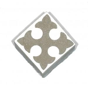 Zementfliesen antik, historischer Baustoff | Retro-Fliesen | Sechseck | Design V04-053-B | Ventano