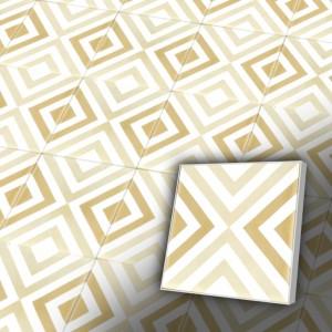Zementfliesen antik, historischer Baustoff | Retro-Fliesen |Muster V20-025-C | Ventano