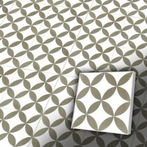 Zementfliesen antik, historischer Baustoff | Retro-Fliesen | Design V20-062-E | Ventano