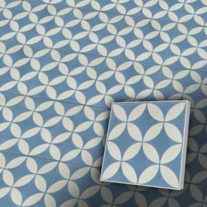 Zementfliesen antik, historischer Baustoff | Retro-Fliesen | Design V20-062-F | Ventano