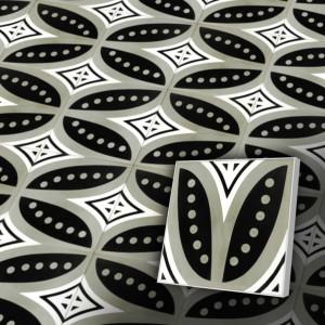 Zementfliesen antik, historischer Baustoff   Retro-Fliesen   Maurisch   Muster V20-C2-D   Ventano