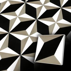 Zementfliesen antik, historischer Baustoff | Retro-Fliesen |Muster V20-034-A | Ventano