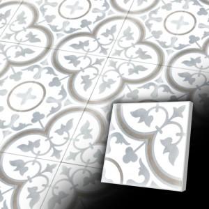 Zementfliesen antik, historischer Baustoff | Retro-Fliesen | Antik | Design V20-098-L | Ventano