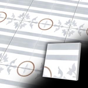 Zementfliesen antik, historischer Baustoff | Retro-Fliesen | Historisch | Design V20B2-033-N  | Ventano