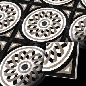Zementfliesen antik, historischer Baustoff | Design-Fliesen | Orientalisch | Design V20C-006-A | Ventano