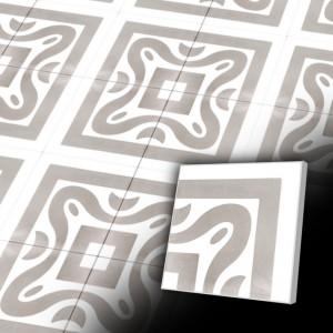 Zementfliesen antik, historischer Baustoff | Design V20C-032-B | Ventano